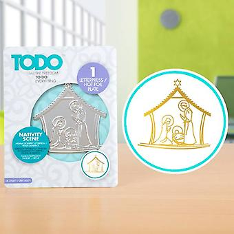 TODO Hot Foil Press Nativity Scene