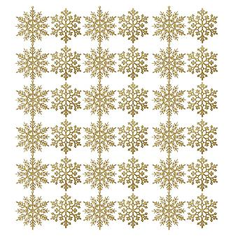 36PCS Christmas Tree Snowflake Decorations Gold
