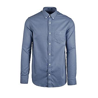 Gant D1.melange Dobby Long Sleeved Shirt Capri Blue