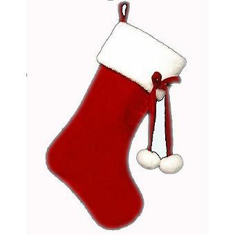 Davies Products Pom Pom Christmas Stocking