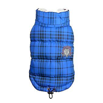Hip Doggie Plaid Shearling Puffer Vest