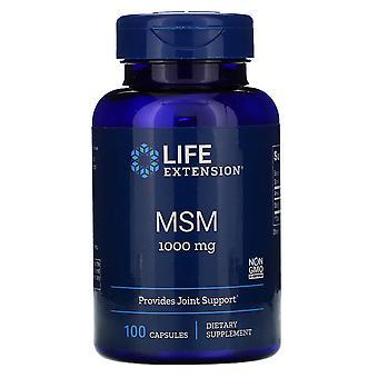 Life Extension, MSM, 1.000 mg, 100 Kapseln
