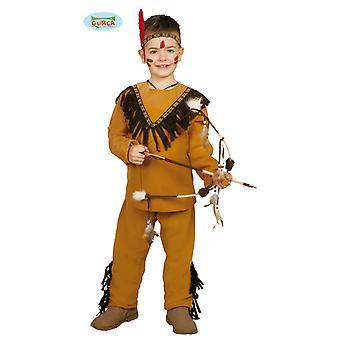 Kinder Kostüm Indianer Tato Oberteil Hose Braun Stirnband Fasching Verkleidung