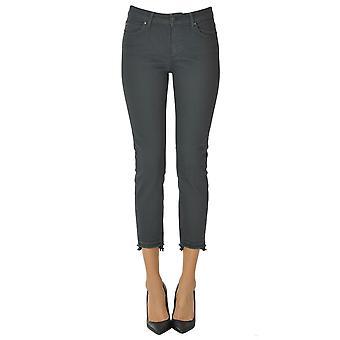 Atelier Cigala's Ezgl457019 Women's Grey Cotton Jeans