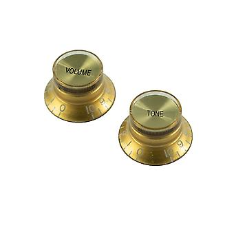 WD Music Left Hand Bell Knob Set Of 2, Usa Fit And Cts Pots
