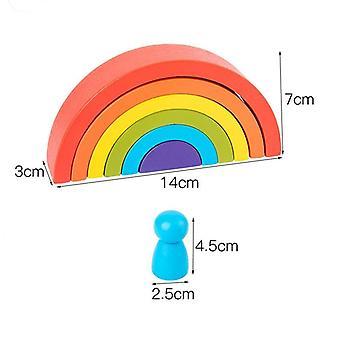 Montessori Creative Rainbow Rakennuspalikat Lelu