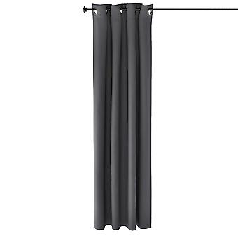 Furinno Collins Blackout Vorhang 52X84 In. 2 Panels, Dunkelgrau