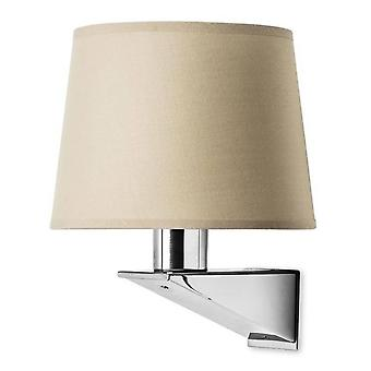 1 Light Indoor Wall Light Chrome, Satin Nickel, E27