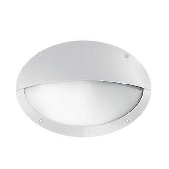 Ideel Lux Maddi - 1 lys halv diffuser udendørs flush væg lys hvid IP66, E27