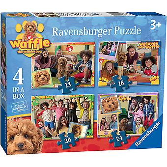 Ravensburger Waffle the Wonder Dog 4 in a Box Jigsaw Puzzles