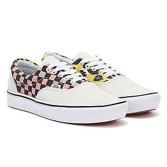 Vans Comfycush Era Mixed Media Womens White / Pink / Yellow Trainers