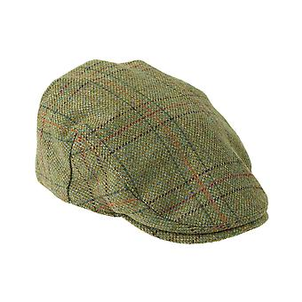 ZH097 (LIGHTOLIVE CHECK S 56cm ) Kinloch WP British Tweed Flat Cap