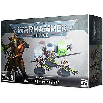 Spiele-Workshop - Warhammer 40.000 - Necron Krieger und Paint Set