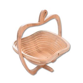 Apfelförmige Bambus Rahmen faltbare Aufbewahrungskorb (khaki)