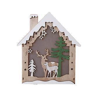 Ornement de Noël de maison de neige d'hiver avec la lumière pour la décoration de partie de Noël