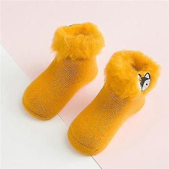 Socks For Baby 3d Embroidery Cartoon Newborn Winter Warm Thick Infant