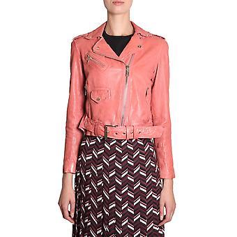 Michael von Michael Kors Mh82hyg2a3669 Damen's Rosa Leder Outerwear Jacke