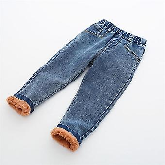 Boys Winter Thick Denim Pants, Warm Jeans