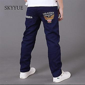 Letters Kids Jeans Trousers Casual Elastic Waist Pencil Pants's Clothes