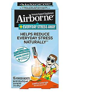 Airborne Stress Away Powder Zesty Orange, 21 Count
