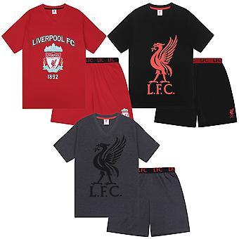 Liverpool FC offizielle Fußball Geschenk Herren Kurze Pyjamas Loungewear