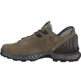 Ecco Mens Exohike Low GORE-TEX Waterproof Lace Up Walking Hiking Shoes - Grey
