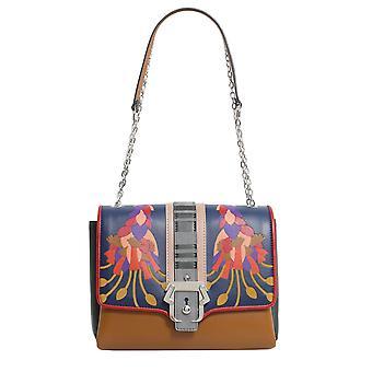 Paula Cademartori Alifw17vtcafiin46 Women's Multicolor Leather Shoulder Bag
