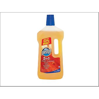 Johnsons Wax Pledge Gentle Wood Floor Cleaner 750ml