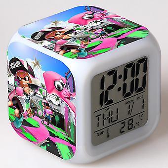 Colorful Multifunctional LED Children's Alarm Clock -Splatoon #3