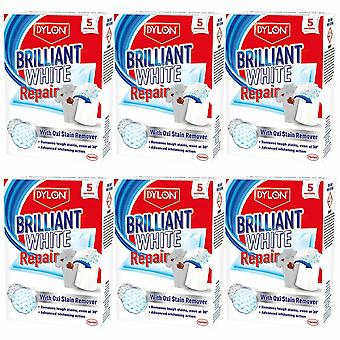 Dylon Brilliant White Repair with Oxi Stain Remover, 5 Sachets, 6 pk