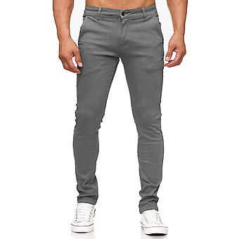 Мужские Чино брюки тонкий конические ноги скинни подходят джинсы стрейч мужские случайные