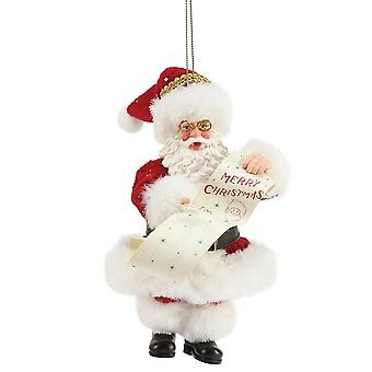 Department 56 Merry Christmas Santa Claus Hanging Ornament