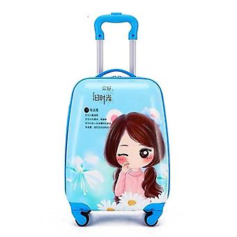 Cartoon Rolling Luggage Travel Suitcase On Wheel Trolley Luggage Carry-ons