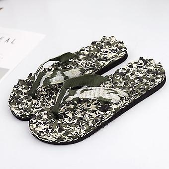 Summer Fashion Massage Slippers, Men Breathable Flip Flops Non-slip Shoes