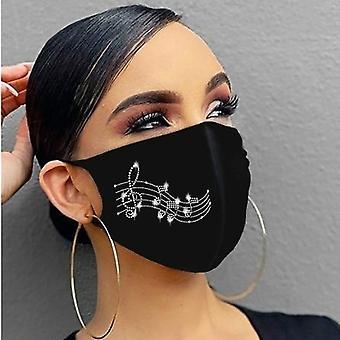 Masque de bouche en coton glace respirant respirant Unisex, masque antipoussière extérieur