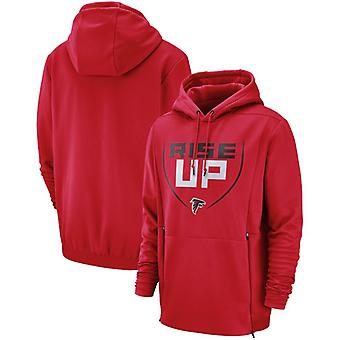 Atlanta Falcons Men's Sideline Performance Player Pullover Hoodie Top WYX076