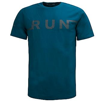 Under Armour Mens Run T-Shirt Graphic Logo Gym Casual Top 1344972 417 M