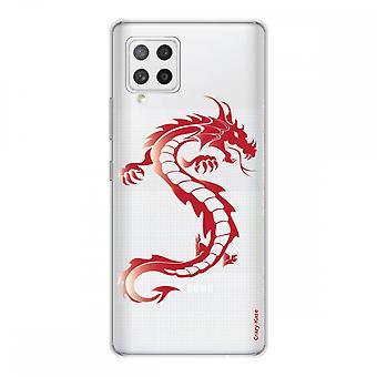 Scafo per Samsung Galaxy A42 5g Silicone Soft 1 Mm, Red Dragon