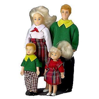 Dolls House Miniature 1:12 Modern Family Of 4 People Mum Dad Little Girl Nd Boy