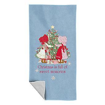 Holly Hobbie Christmas Sweet Memories Beach Towel