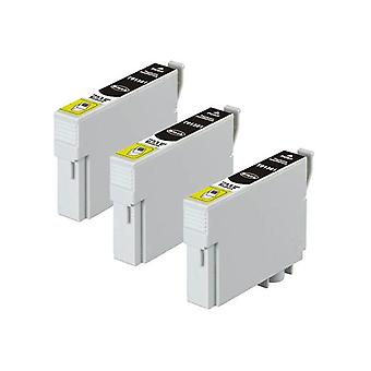T1381 138 Pigment Black Compatible Inkjet Cartridge X 3