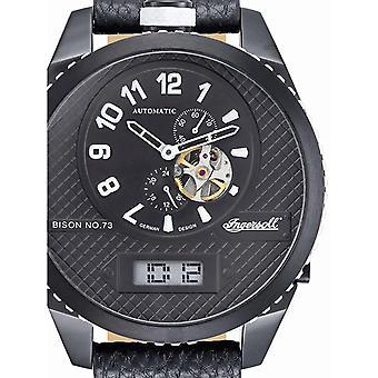 Reloj para hombre Ingersoll IN1716BBKW, Automático, 55mm, 10ATM