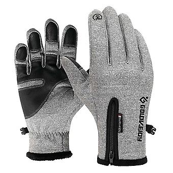 Outdoor Hiking, Cycling & Running Gloves, Winter Touchscreen Knitted Thicken