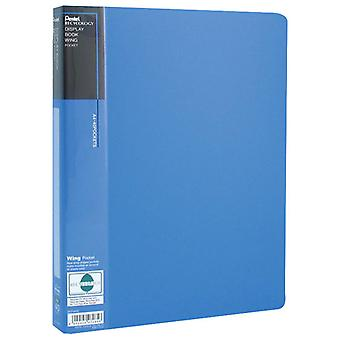 Pentel DCF444C Display Book - Wing Type - Blue - 40 Pockets - A4 Size