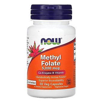 Nu Voedingsmiddelen, MethylFolaat, 5.000 mcg, 50 Veg Capsules