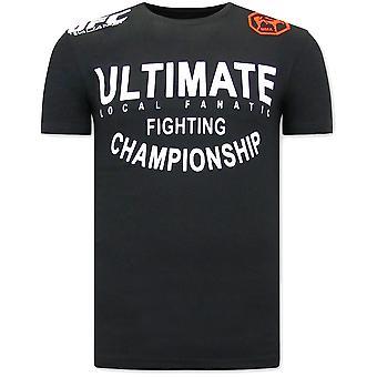 UFC Ultimate T-paita - Musta