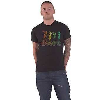 The Doors T Shirt Spectrum Jim Morrison Band Logo new Official Mens Black
