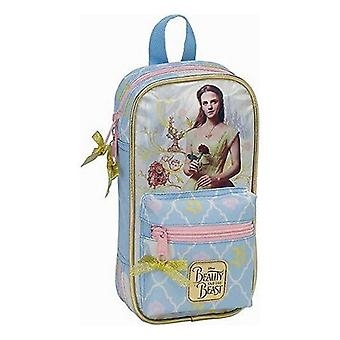 Backpack pencil case beauty and the beast (33 pieces)