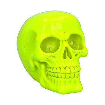 Nemesis Now Psychedelic Fluorescent Skull Yellow Figurine 15.5cm