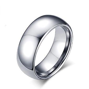 Todellinen tungsten hopea miesten kihlasormus
